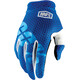 100% iTrack Gloves blue